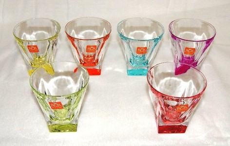 RCR HOME & TABLE FUSION colours ロックグラス 6客組