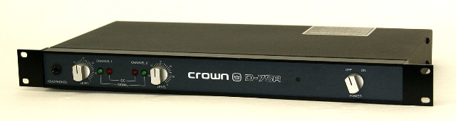 CROWN クラウン D-75A 業務用2chパワーアンプ